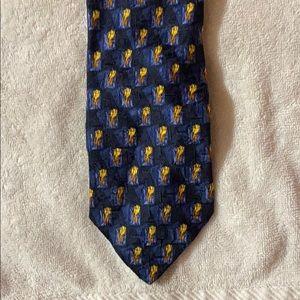 Ermenegildo Zegna Blue & Yellow Tie